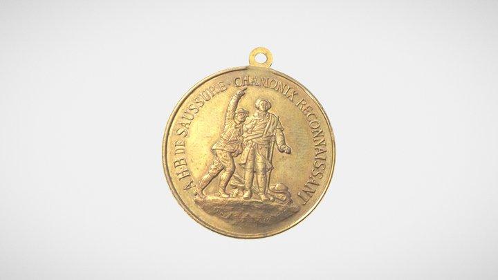 Medaille Centenaire de l'ascension du mont Blanc 3D Model