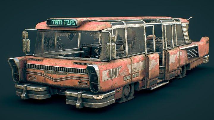 Fallout 4 Miami Tourist Bus 3D Model
