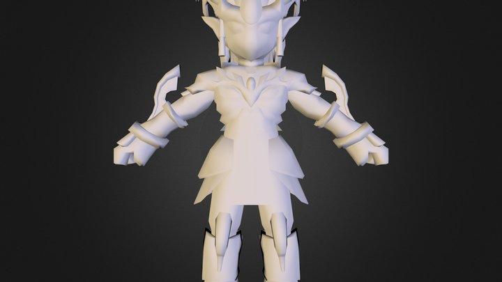 Kaen Deus da Luz  com capa e mascara.obj 3D Model