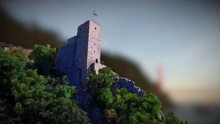 St Anton Tower - Martkopi Monastery - Georgia 3D Model