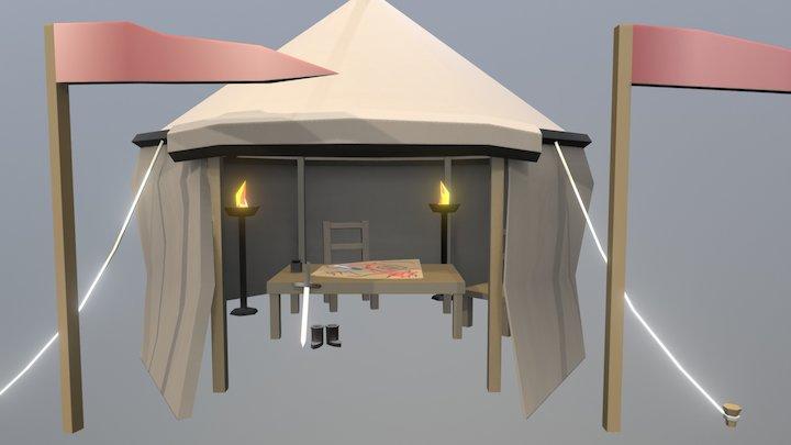General's Tent - Siege Equipment Assets 3D Model