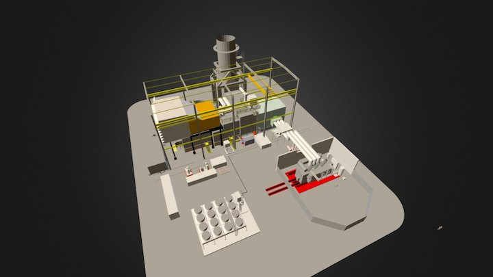 GAS TURBINE AND TRANSFORMER 3D Model