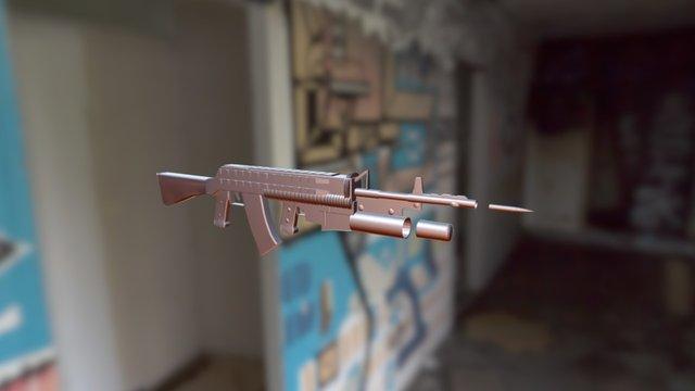 Assault Rifle 2. 3D Model