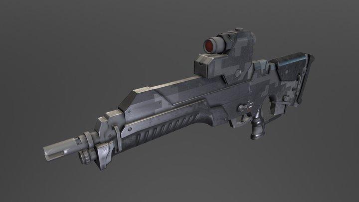 ASL - Standart Issue Assault Rifle 3D Model