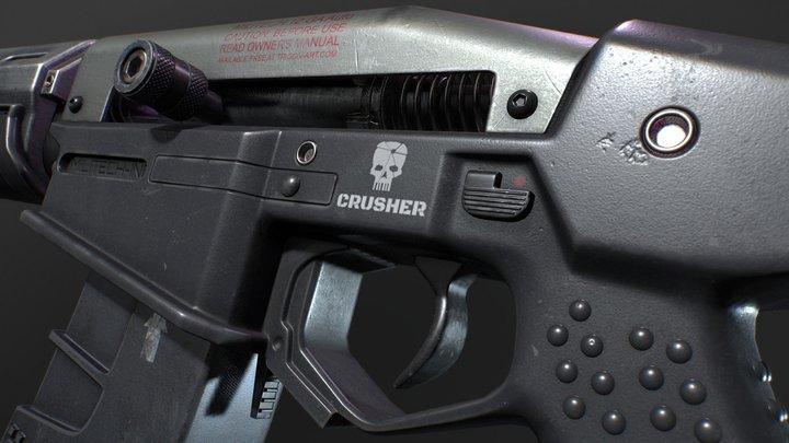 "Cyberpunk ""Crusher"" Shotgun 3D Model"