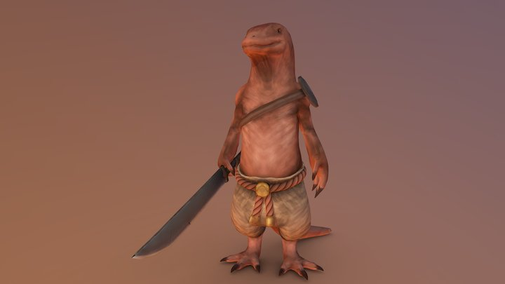 Lizardman fighter 3D Model