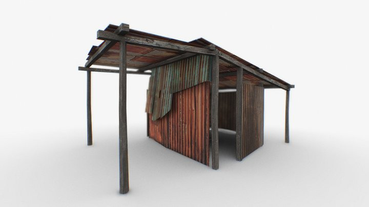 Low   Farm   Assembly   Dirty   House   Poor 3D Model