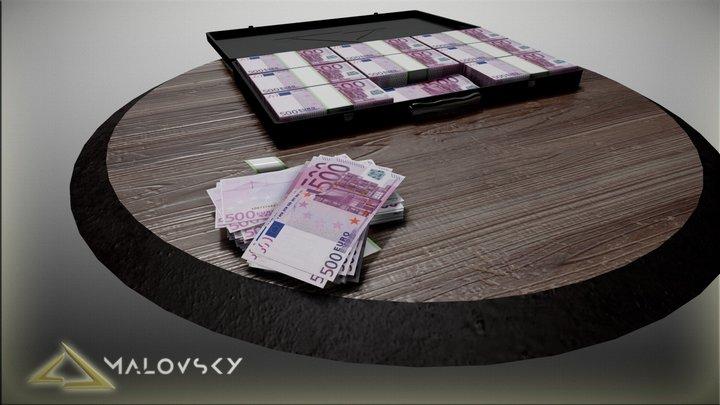 One Million Euros 3D Model
