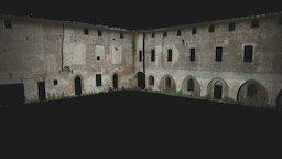 Cassino Scanasio - cortile castello 01 3D Model