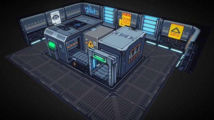 Refinery Scene 3D Model