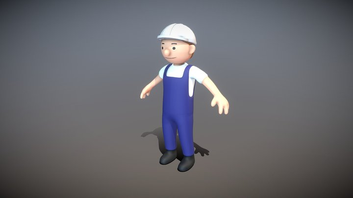 Electrical Engineer (High-Poly Version) 3D Model