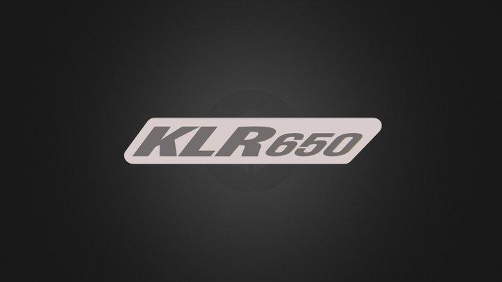 KLR650 plate 3D Model
