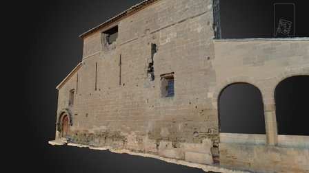 Fachada Este Ermita de Salas en Huesca 3D Model