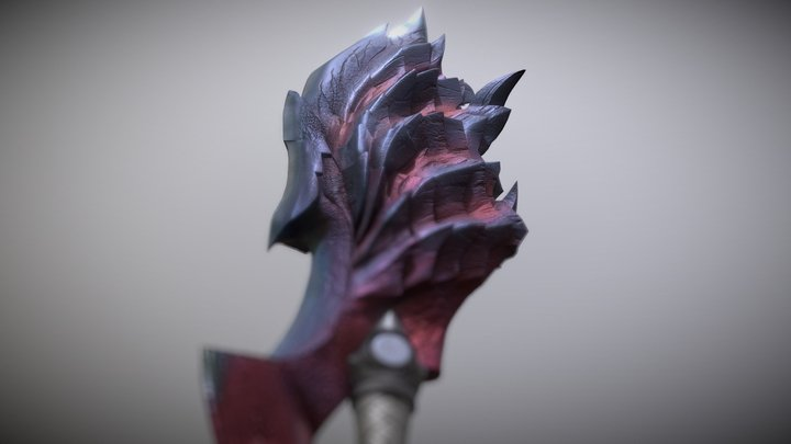 MHW Iceborne Glavenus Greatsword 3D Model
