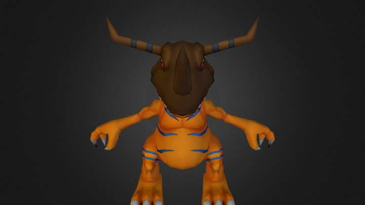PC Computer - Digimon Masters - Greymon 3D Model