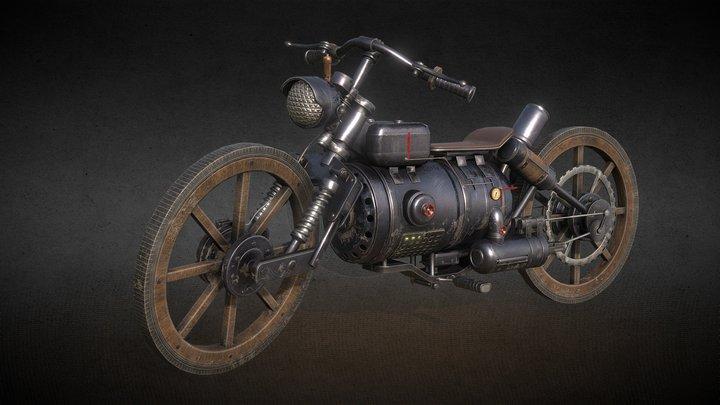 Wild West Motorcycle 3D Model