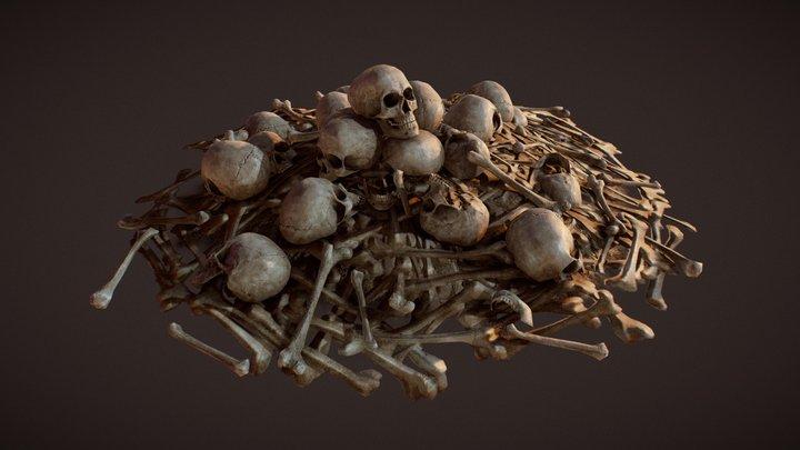 Bone pile V2 3D Model