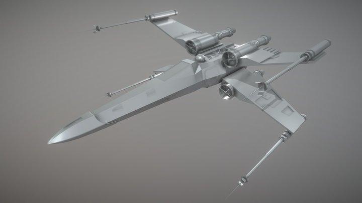 X-wing Starfighter 3D Model