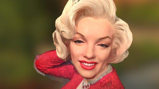 Marylyn Monroe 3D Model