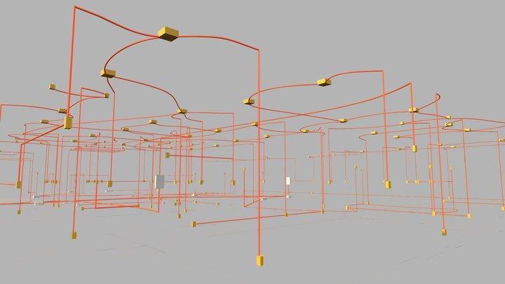 Projeto Elétrico 3D Model