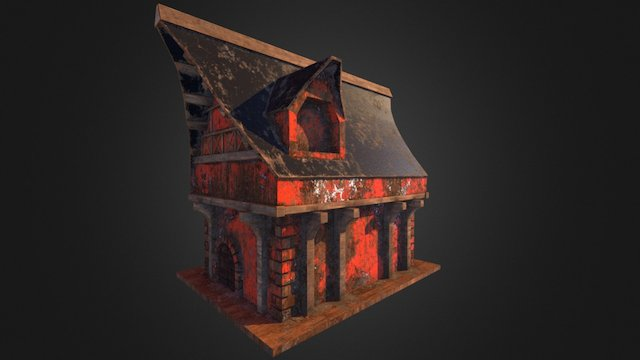 Old Toy House 3D Model