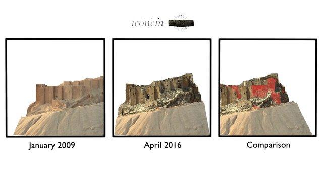 Palmyra Citadel Comparison 3D Model