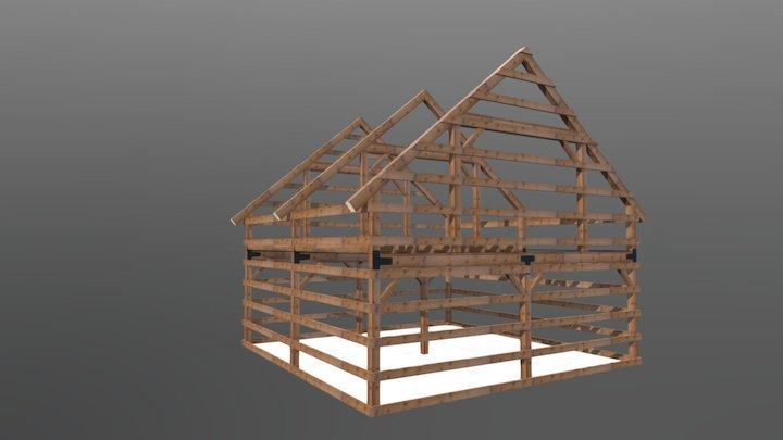24x24 Gable Frame 3D Model
