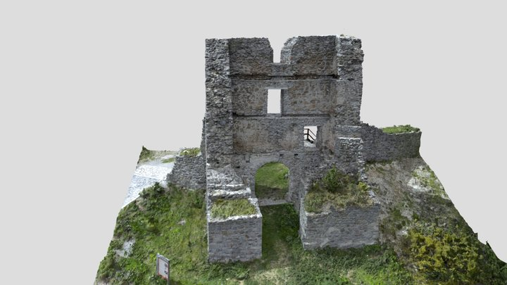 Gate in the castle Pusty hrad 3D Model
