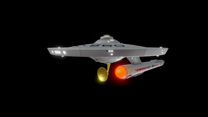 USS SCORPION Saladin Class 3D Model