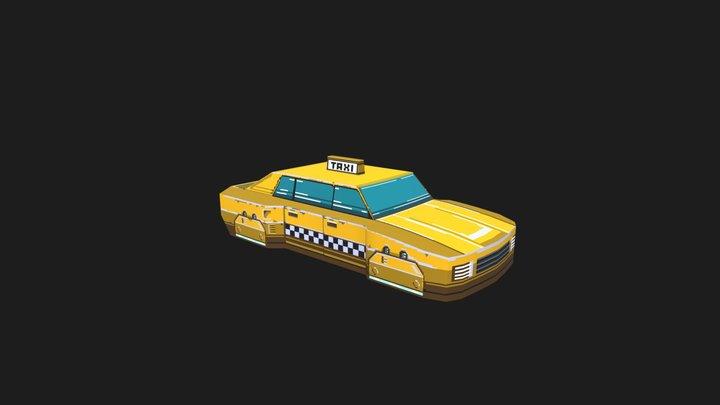 Hover Taxi 3D Model