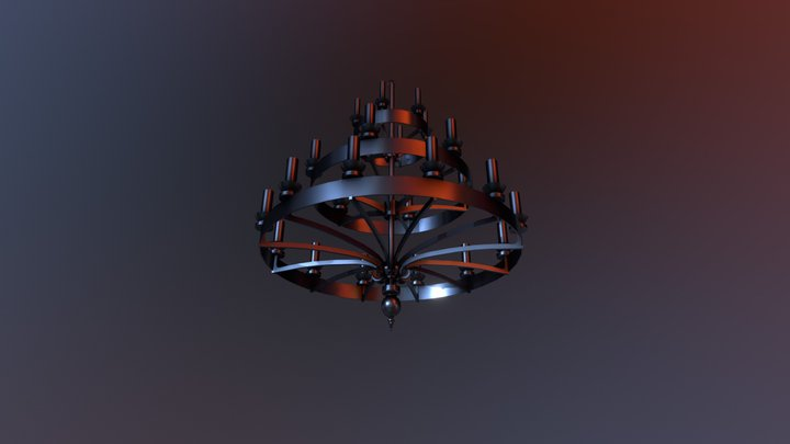 Iron Chandelier 3D Model