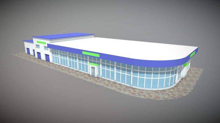 TruckShop and Garage 3D Model