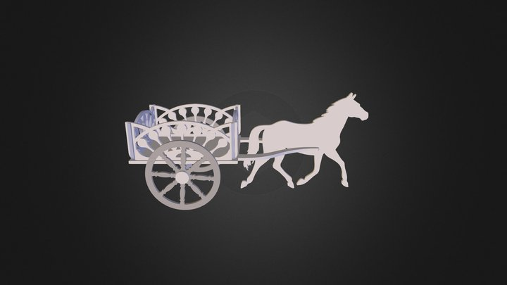 Horse and Buggy 2 3D Model