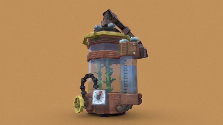 Steampunk Plant 3D Model