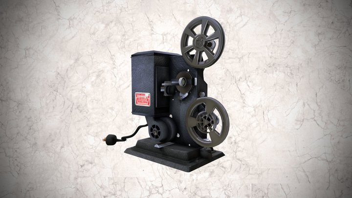 Proyector cinematográfico Keystone de 8 mm 3D Model