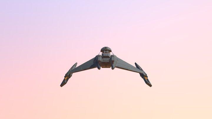 D5 Class Klingon Cruiser 3D Model