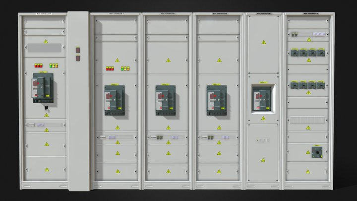 Switching cabinets server automation 3D Model