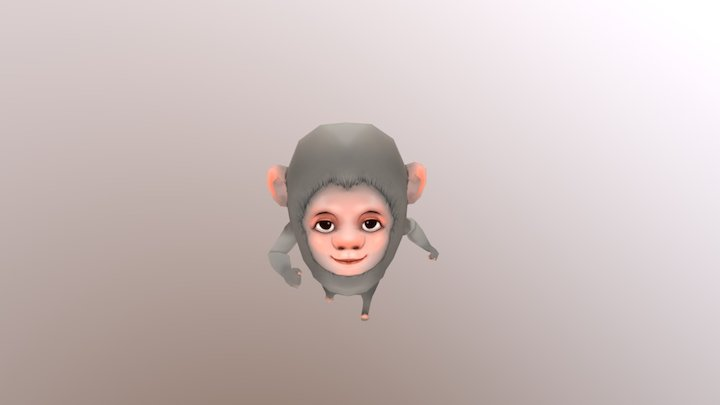 Monkey - Mobile Game Character 3D Model