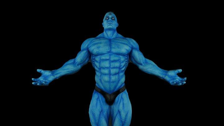 Scan of Doctor Manhattan - Watchmen 3D Model