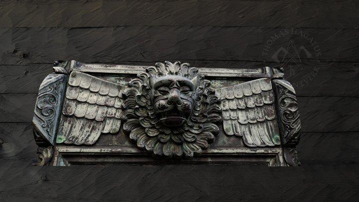 Bronze lion, Hohenzollern 3D Model