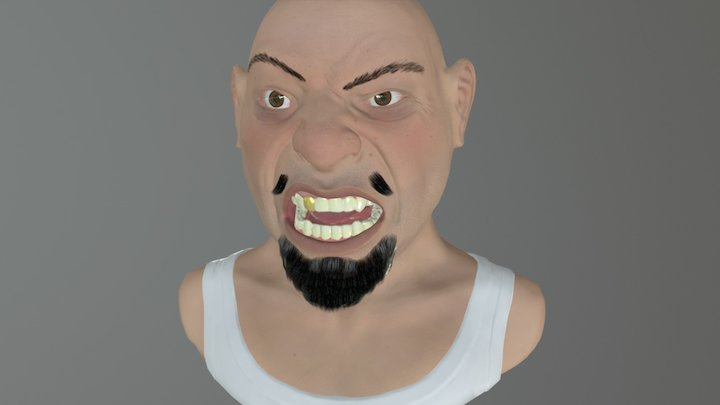 Angry_dude 3D Model