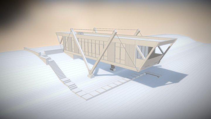 Constructivism style house (test) 3D Model