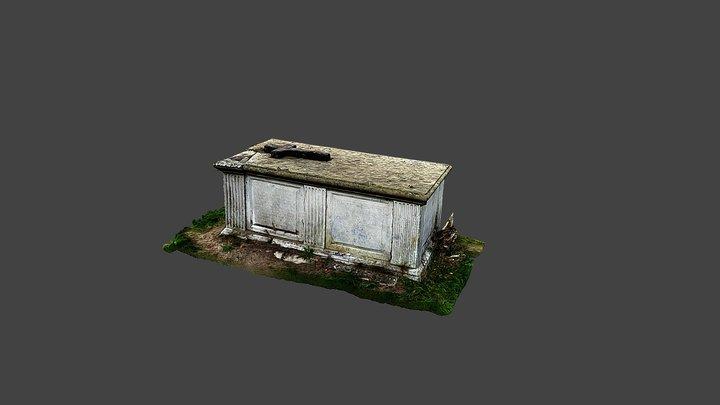 St Mary's Church, Shaw-Cum-Donnington-Box Tomb 3 3D Model