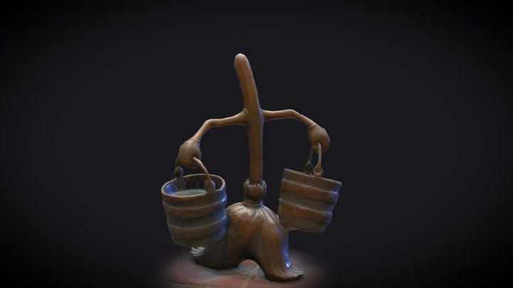 Magic Broom from Fantasia 3D Model