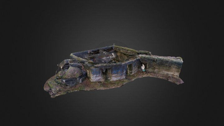 Damaged Shelter 3D Model