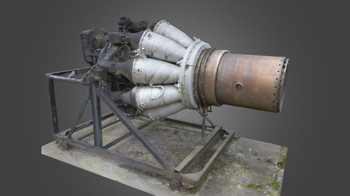 Jet Engine 3D scan - Klimov RD-45 3D Model