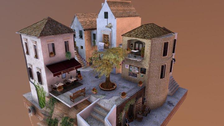 Cityscene - Ostuni 3D Model