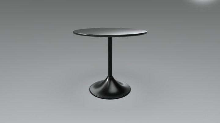 SIMPLE ROUND TABLE OBJ 3D Model