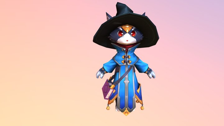 Wizard Cat 3D Model