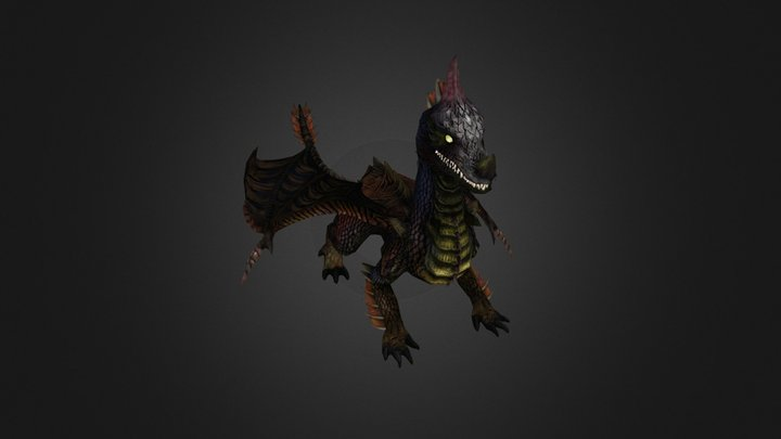 Dragon - Animated - Game Ready 3D Model